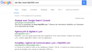 Indexation site web - HTTP5000