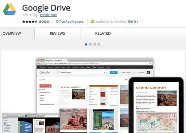 Google Drive - Application Chrome - http5000