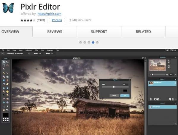 Pixlr Editor - Application Chrome - http5000