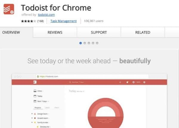 Todoist for Chrome - Application Chrome - http5000