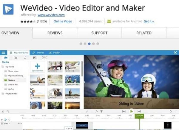 WeVideo - Application Chrome - http5000