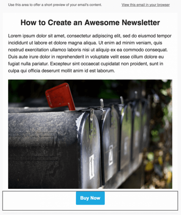 Newsletters sur Mailchimp : le call to action - Http5000